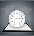 clock watch on the digital gadget vector image vector image