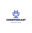 code podcast logo icon vector image