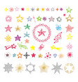collection of multicolor star shapes isolated on vector image vector image