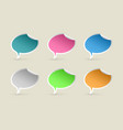 colorful paper speech bubbles vector image vector image