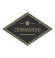 commando icon logo flat style vector image