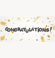 congratulations design with gold ribbon vector image