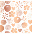 copper foil abstract shape seamless pattern vector image