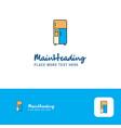 creative fridge logo design flat color logo place vector image vector image