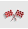 Crossed checkered flags vector image vector image