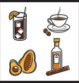 cuban food and drink cuba culture traveling vector image vector image
