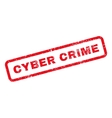 Cyber Crime Text Rubber Stamp vector image vector image