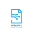 data page concept logo template design digital vector image