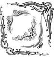 decorative corners vector image vector image
