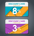 Discount cards in style of material design vector image vector image
