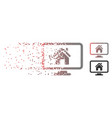 disintegrating pixel halftone realty monitoring vector image vector image