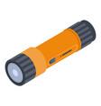 double flashlight icon isometric style vector image