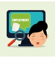 Employment design Human resources icon Isolated vector image vector image