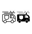 fire engine line and glyph icon fire truck vector image