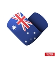 Flag icon in the form of heart I love Australia vector image vector image