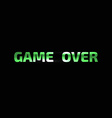 GAME OVER banner GAME OVER lettering vector image vector image