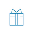 gift package linear icon concept gift package vector image vector image