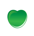 green heart vector image