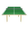 green table tennis field vector image vector image