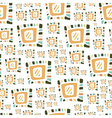 Hand drawn colorful abstract seamless patterns vector image