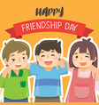 happy friendship day with children vector image