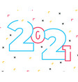 happy new year 2021 banner with modern geometric vector image vector image