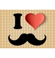 I love hipster sign vector image