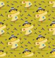 image pattern scarecrow field scare birds vector image vector image