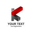 initial letter k logo design template element vector image vector image