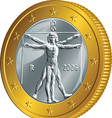 Italian money gold coin euro vector image vector image