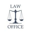 Law office icon with Scales of Justice vector image vector image