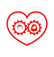 love with driving gear from the couple vector image vector image