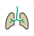lung icon design 48x48 pixel perfect and editable vector image