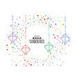 makar sankranti kites with colorful confetti vector image vector image