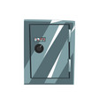 metal safe armored box data protection vector image