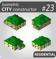 modern isometric buildings vector image