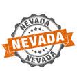 nevada round ribbon seal vector image