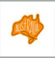 one line australia design silhouette vector image
