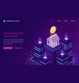 online banking app isometric finance concept vector image vector image