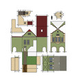 paper model an old town house vector image vector image