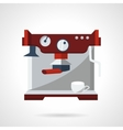 Professional coffee machine flat icon vector image