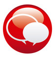 red round chat bubbles emblem icon vector image