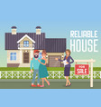 reliable house flat vector image vector image