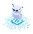robot isometric icon vector image vector image
