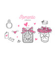 romatic hand drawn wedding vector image