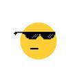 Round emoji like a boss or leader