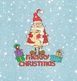 Santa Claus and presents vector image vector image