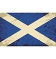 Scottish flag Grunge background vector image vector image