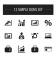 set of 12 editable logical icons includes symbols vector image vector image