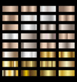 set of silver bronze and gold foil texture vector image